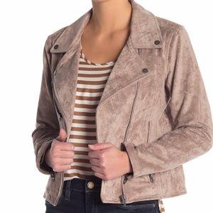 BLANKNYC Faux Suede Moto Jacket